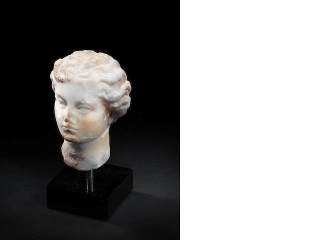 Roman marble female head