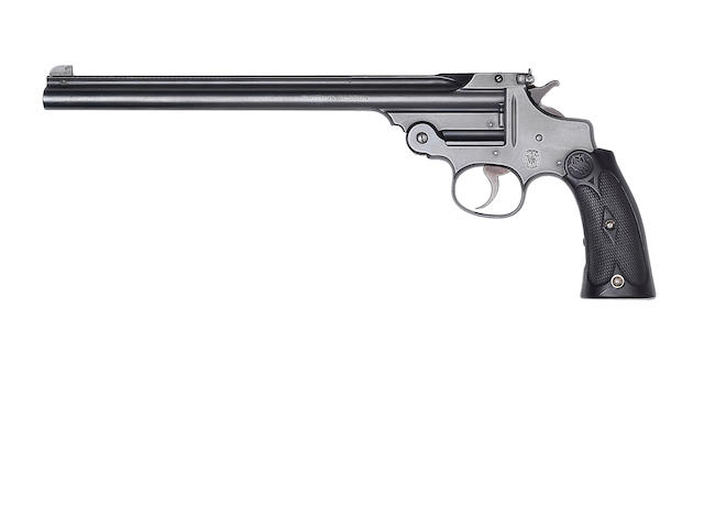A .22 (L.R.) 'Model 1891 Third Pattern' single-shot target-pistol by Smith & Wesson, no. 9333J