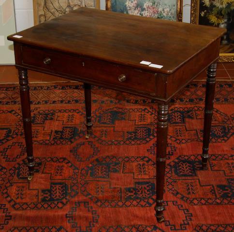 A Regency mahogany side table