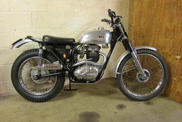 1960 BSA 350cc B40 Trials Frame no. C15S2580 Engine no. B403294