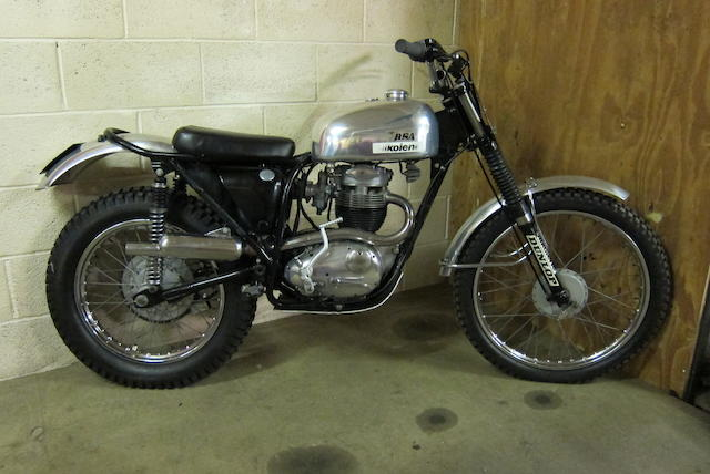 c.1982 BSA 350cc B40 Trials Engine no. B40GB2039