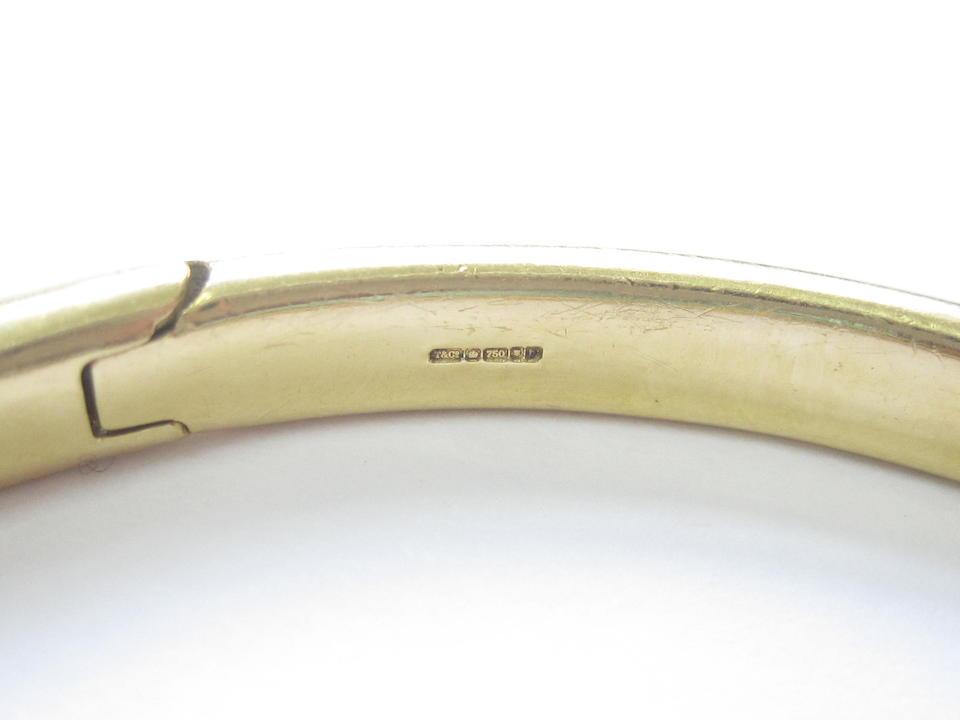 An 18ct gold diamond 'Etoile' bangle,  by Tiffany & Co.,