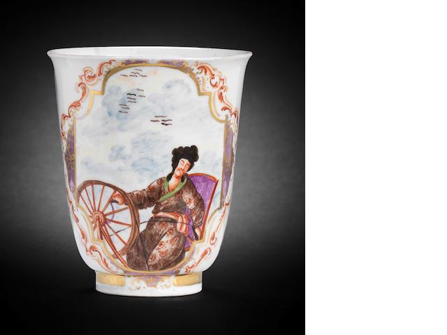 A rare Meissen beaker, circa 1721-22