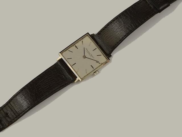 IWC: An 18ct white gold manual wind wristwatch, circa 1960