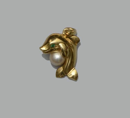 Cartier: A dolphin pendant