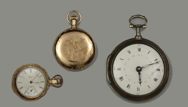 A collection of twenty-four assorted 19th century and later pocket watches and cases