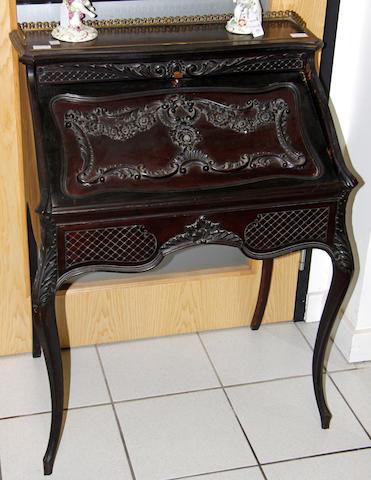 A mahogany ladies bureau