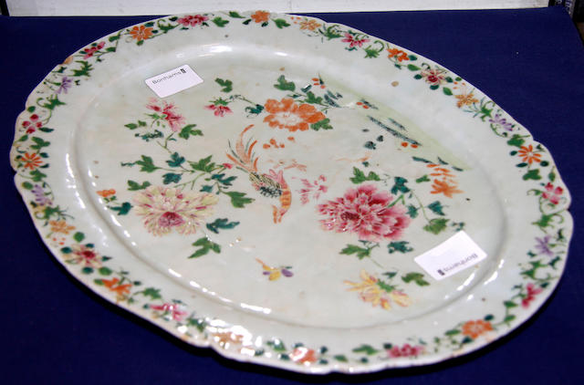 An 18th century style Chinese oval dish