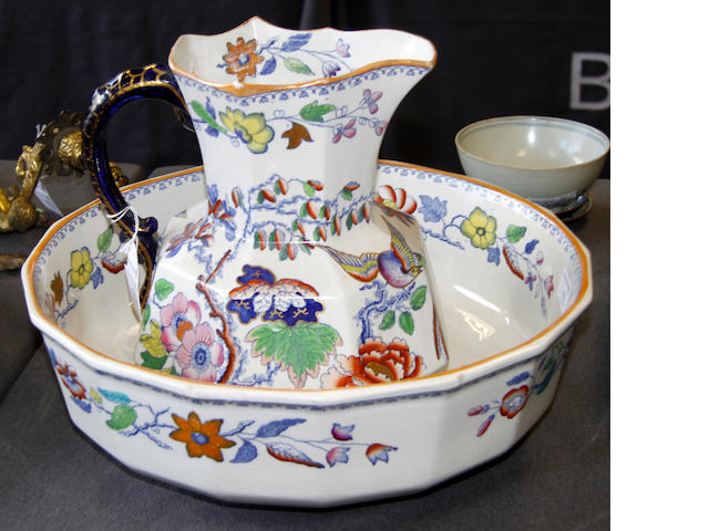 A Masons Japan decorated jug and basin