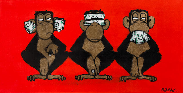Mau Mau (British) Three Monkeys<BR />