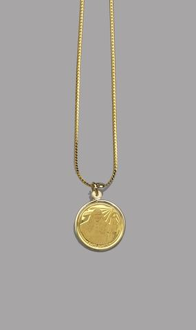 A modern circular medallion