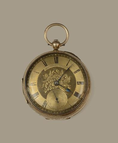 A 9ct gold open face pocket watch