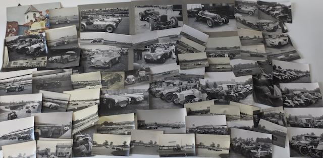 A collection of motor racing photographs,