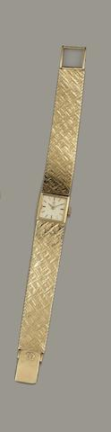 Omega: A lady's 9ct gold wristwatch