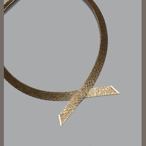 A 9ct gold collar necklace