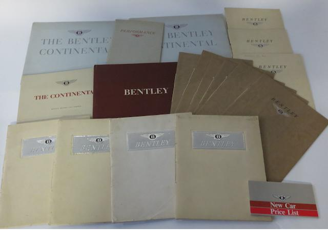 Post-War Bentley sales brochures,