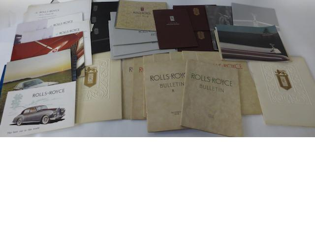Post-War Rolls-Royce sales brochures,