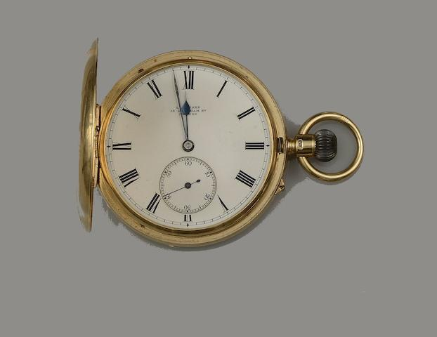 An 18ct gold hunter pocket watch