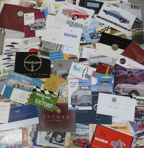 A good quantity of assorted sales brochures,