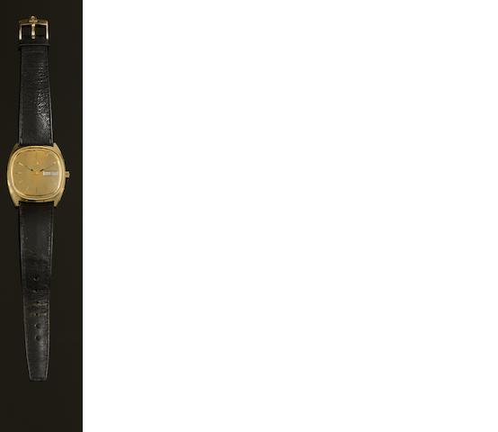 Omega: A gold plated quartz calendar wristwatch, circa 1973