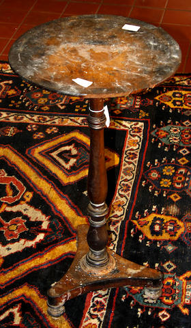A Regency burr yew circular occasional table,
