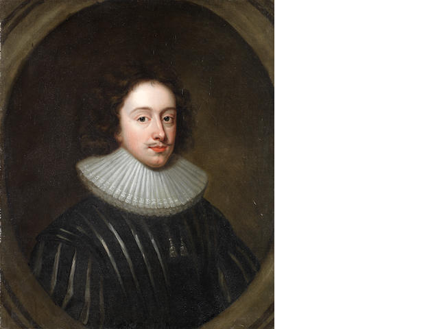 English School, 18th Century Portrait of a gentleman, bust-length, in 17th Century costume,