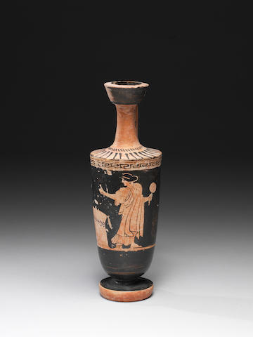 An Attic red figure lekythos