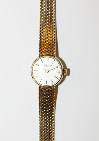 A lady's 9ct gold wristwatch, by J W Benson,