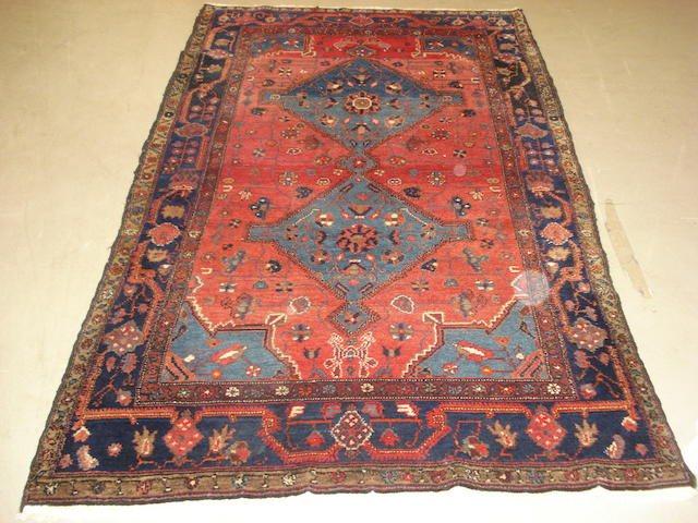 A Hamadan rug, West Persia, 231cm x 134cm and another rug (2)