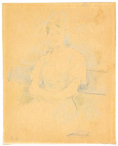 Berthe Morisot (1841-1895) Portrait de Mademoiselle Alice Gamby