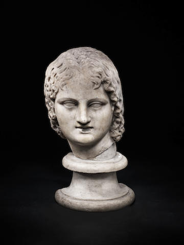 A Roman marble head of a young woman
