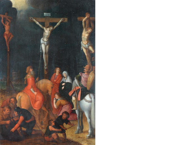 Attributed to Pieter Lisaert (Antwerp 1574-circa 1604) The Crucifixion