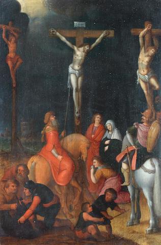 Attributed to Pieter Lisaert (Antwerp 1574-circa 1604) The Crucifixion