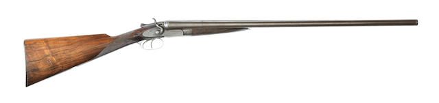 A 12-bore sidelock hammer gun by S. Ebrall, no. 33366