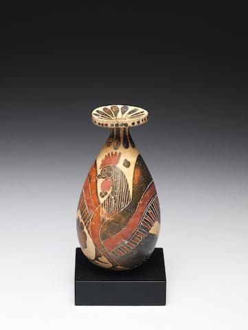 A Corinthian pottery alabastron