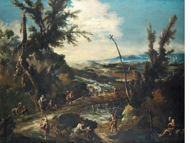 Follower of Alessandro Magnasco, called Lissandrino (Genoa 1667-1749) An extensive wooded landscape