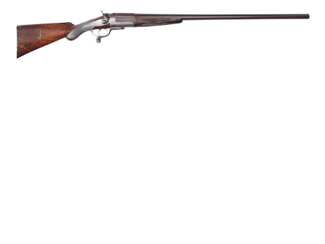 An 8-bore (3¼in) single-barrelled hammer wild-fowling gun by T.M. Watkins, no. 13959