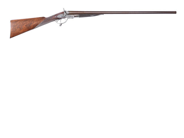 A 10-bore (2 5/8in) sidelock hammer gun by W. Powell & Son, no. 5797