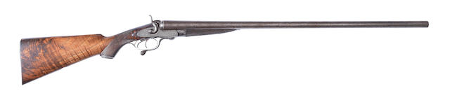 A 10-bore (2 7/8in) sidelock hammer gun by P. Hast