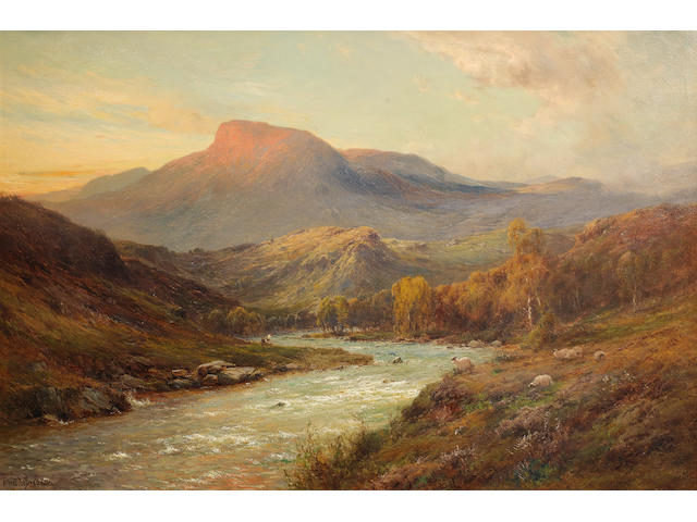 Alfred de Bréanski Snr. (British, 1852-1928) 'Ben Ledi at sunset'