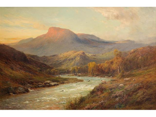 Alfred de Bréanski Snr. (British, 1852-1928) 'Ben Ledi at sunset'