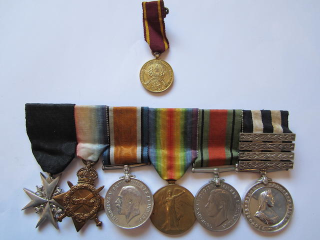 An Order of St John group of seven to Lieutenant G.B.Horrocks, St.John Ambulance, Royal Army Medical Corps,