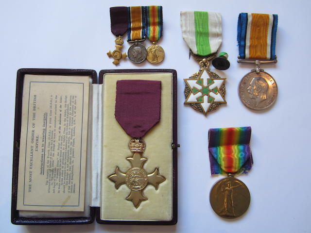 A Civil O.B.E. group of four to Major P.W.Brigstocke, Royal Army Medical Corps,