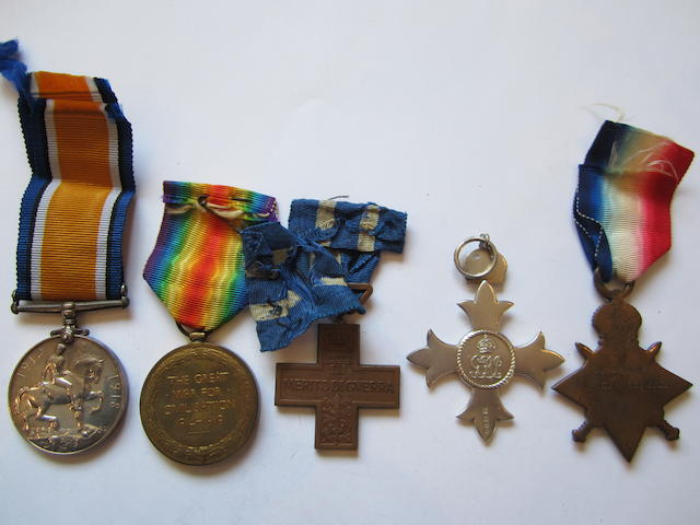 A Great War M.B.E. group of five to J.W.Sims, British Red Cross and Order of St.John of Jerusalem,