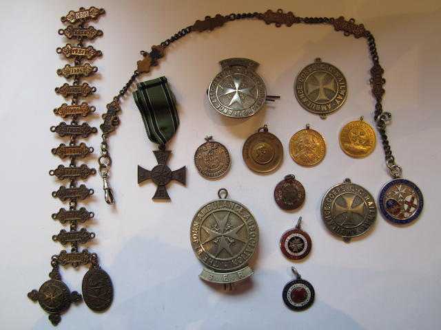Railway Related St.John and Red Cross Medals,