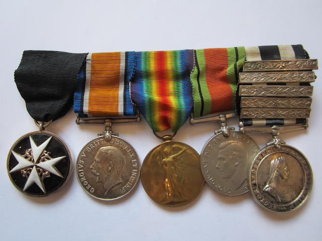 An Order of St.John group of five to Private H Perks, St.John's Ambulance Brigade, late Royal Warwickshire Regiment,