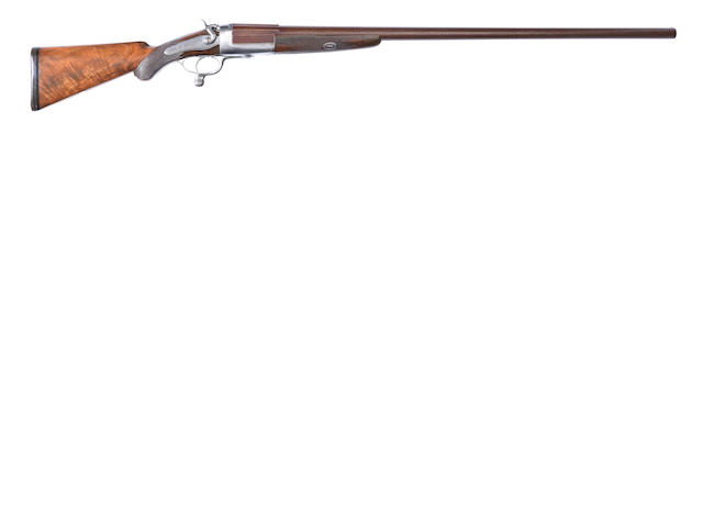 A 4-bore (4in) single-barrelled hammer wild-fowling gun by W. Richards, no. 8727