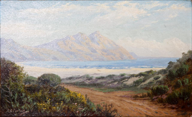 Edward Charles Moore (South African, 1883-1946) Hout Bay and Chapmans Peak