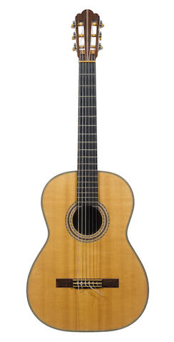 A six string Classical Guitar by Hermann Hauser II, Reisbach, Bavaria, 1959, No. 661 (2)