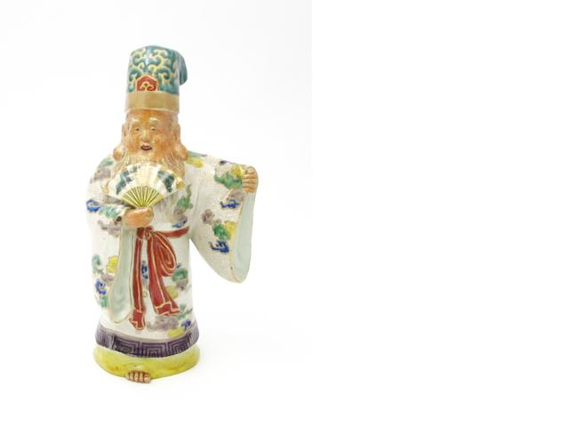 A porcelain model of Fukurokuju